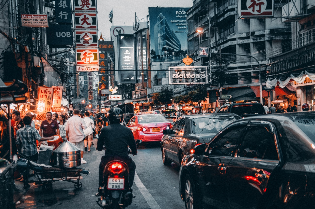 city life in thailand